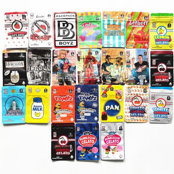 best selling hotBACKPACK BOYZ Black Cherry Bubblegum Gelato Tomyz Merzcato Gelato Banana Milk PAN Red Blue Tomyz Bags backpackboyz with hologram stickers