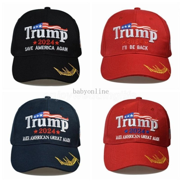 best selling 8 styles Newest 2024 Trump Baseball Cap USA Presidential Election TRMUP same style Hat Ambroidered Ponytail Ball Cap DHL shipping CPA328