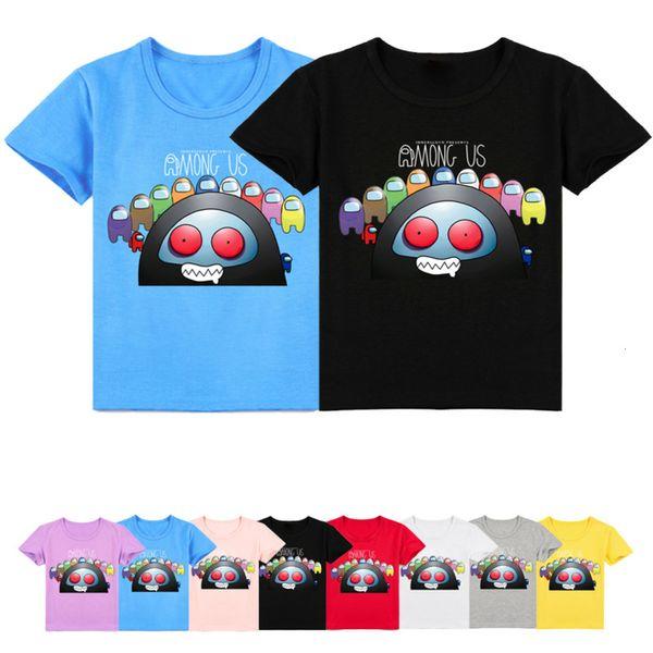 top popular Funny Among Us T Shirts for Kids Boys Impostor Costume Children 2021 Summer Tops Short Sleeves Shirt Girl Toddler Graphic Tees 2021