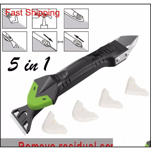 best selling Squeegees Creative 5In1 Sile Remover Caulk Finisher Sealant Smooth Scraper Grout Kit Plastic Hand Tools Set Accessories 007 Jjpjk Ju0Ar