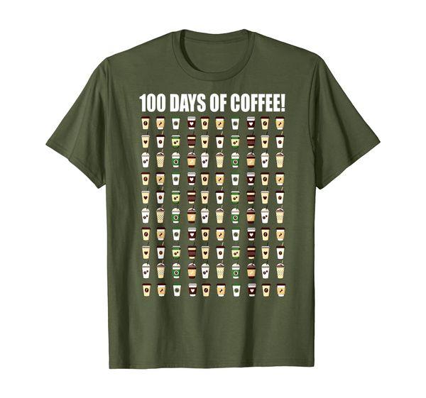 Coffee Teacher Shirt 100 Coffee Cups 100th Day School