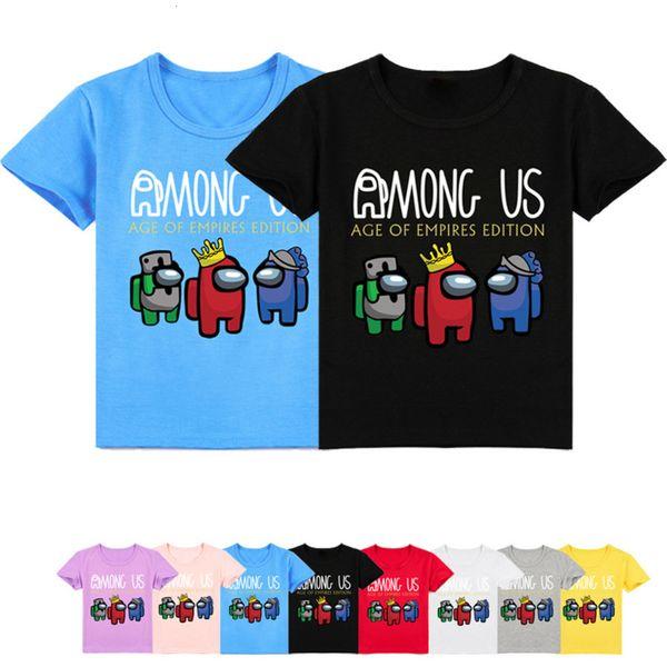 best selling 2021 Summer Boys T-shirt Game Among Us Tshirt Kids Casual Tops Fashion Girls T Shirt Funny Streetwear Hip-hop Short Sleeves 2-16