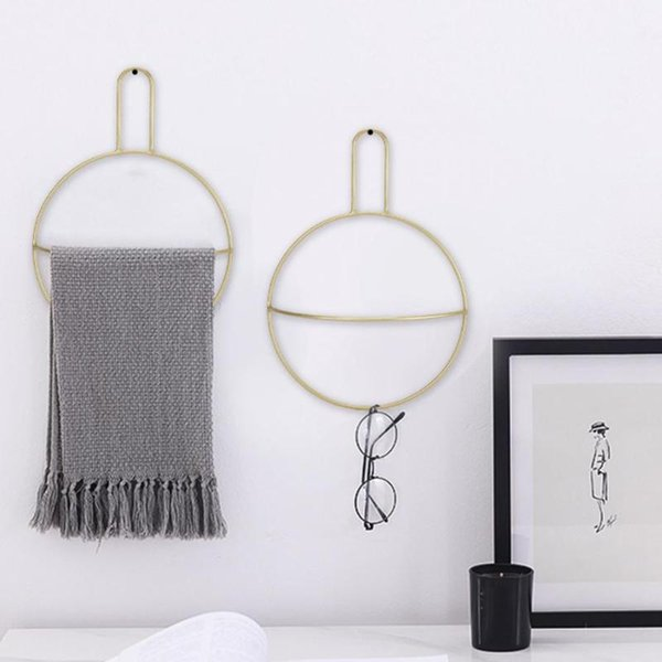 top popular European Simple Style Wall Mounted Towel Ring Home Bathroom Shelf Holder Organizer Towel Storage Rack holder 2021