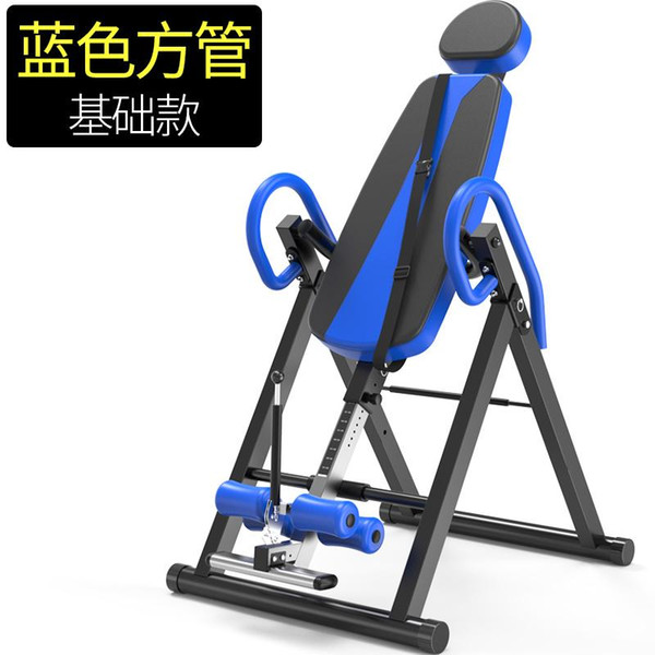 top popular Foldable Small Inverted Machine Household Upside Down Device Inversion Therapy Table with Adjustable Airbag waist Cushion 2021