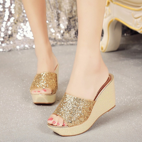 New Arrival Shoes Woman Summer Flip Flops Super High Heel Wedges Platform Women sandals Designer Womens sandals