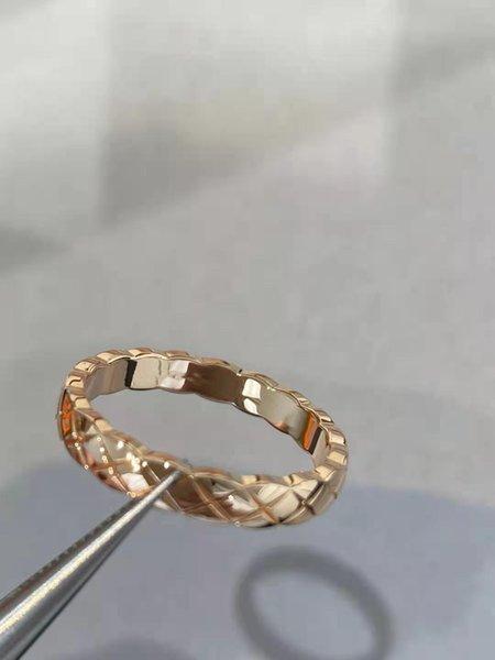 Golden Check Ring