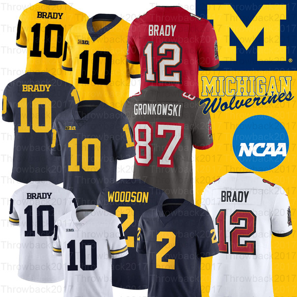 best selling NCAA Michigan Wolverines Jersey Desmond Howard 10 Tom Brady 2 Charles Woodson Shea Patterson College Football Jersey
