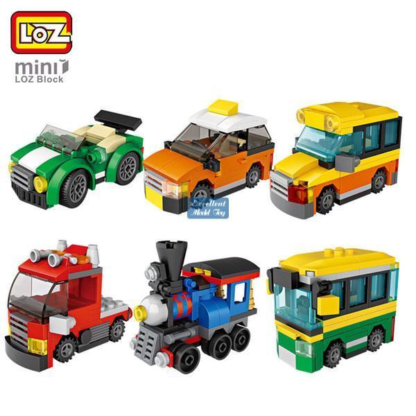 best selling LOZ Mystery Boxes& Mini Building Blocks of Dinosaur, Car, Military Truck& Engineering Vehicle, DIY Educational Toy, Kid Christmas Gift, 2-1