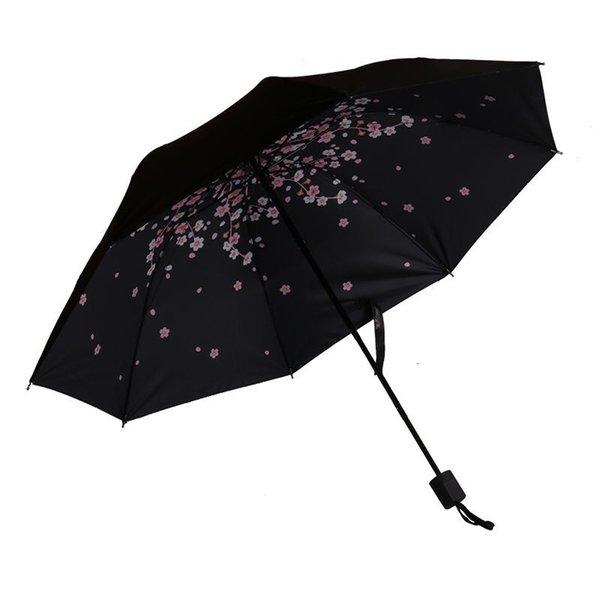 Rama de cereza romántica Negro Umbrella-Re