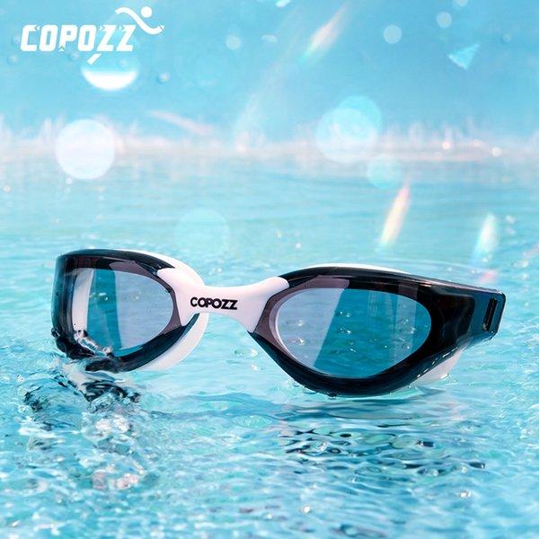 top popular Professional HD Anti-Fog Swim goggles Anti-UV glasses large Frame Silicone Swimming Glasses for Men and Women 210305 2021