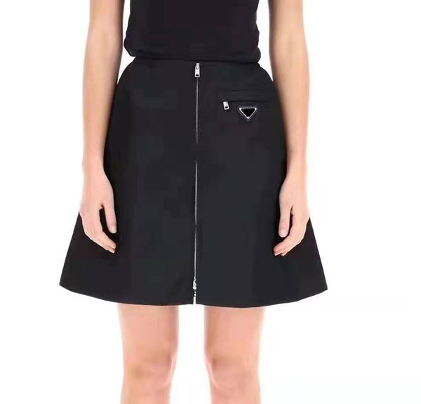 top popular 21ss New Women Skirts With Zipper High Quality Lady Half Dresses with Inverted Triangle Best Matches Skirts for Spring Autumn Outwears 2021