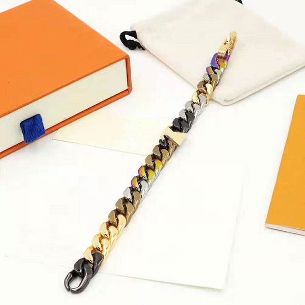 best selling Unisex Bracelet Fashion Bracelets for Man Woman Jewelry Adjust Bracelet Jewelry 6 Color with BOX