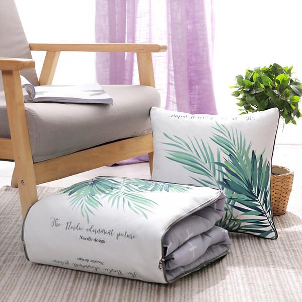 best selling Pure cotton car pillow quilt dual purpose nap sofa cushion office cotton quilt pillow small pillow 2021 6JGI