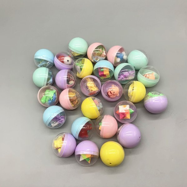 top popular 50MM Easter Twisted Egg Mix Capsule Ball Child Easter Twisted Egg Gift Children's Blind Box Toys Different Surprise Plastic Toys 2021