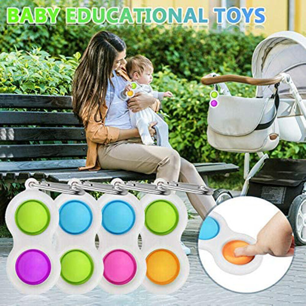 best selling Baby Fidget Simple Dimple Sensory Toys Silicone Flipping Board Brain Teasers Best Gifts Educational Toy For Kids Party Favor