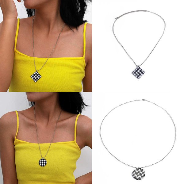 Jewelry autumn creative metal clavicle neck personality simple bead chain lattice new Follow the feeling and choose what you like at first sight.