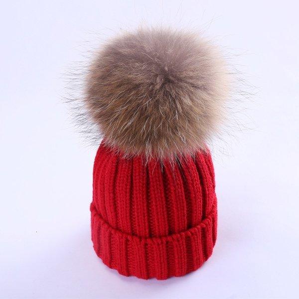 Rouge vif (cheveux de chien de 15-18cm de raton laveur)