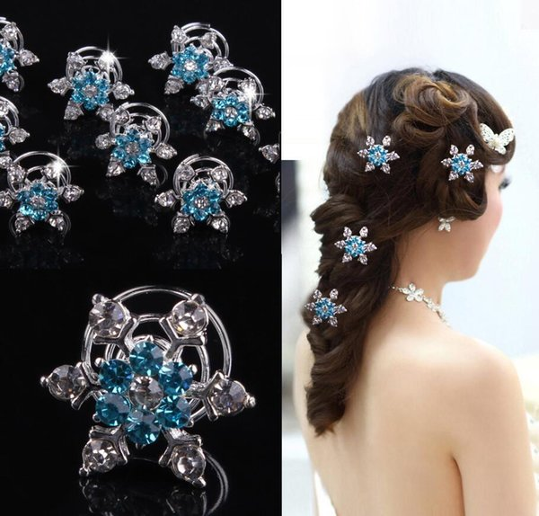 top popular Brand New Frozen direct bridal & Kids hair accessories plate snowflake diamond jubilee clip Frozen ps2948 2021