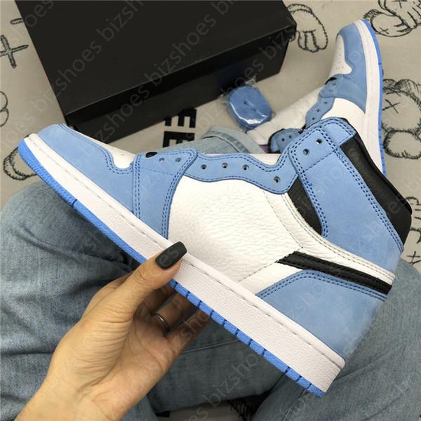 University Blue Powder Blue Sneakers 1 High Trophy Room Mens UNC Sail LPL 1 Comfort Skate shoes 1s Obsidian Silver Toe basketball shoes