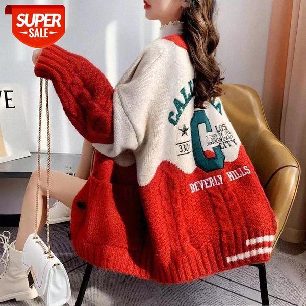 top popular plus velvet 2020 autumn winter new cardigan knitted sweater jacket women thick woolen Korean style loose sweater #bB6A 2021