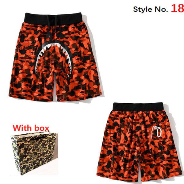 best selling Men's shorts women camouflage beach pants quick-drying graffiti print leggings swimming trunks hip-hop Luminous casual street with label box