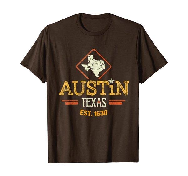 Retro Austin Texas Gift Austin Texas Souvenir Austin Texas T-Shirt