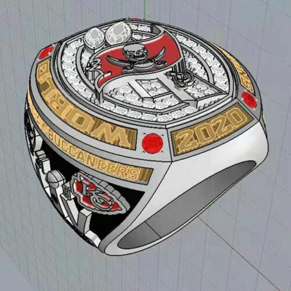 top popular Personal collection 2020-2021 Tampa Bay Championship Ring with Collector's Display Case 2021