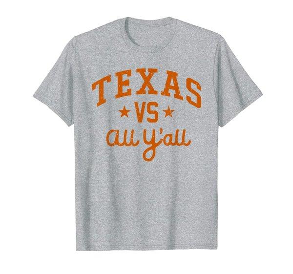 Texas Vs. All Y'all Austin Texas Vintage Distressed T-Shirt