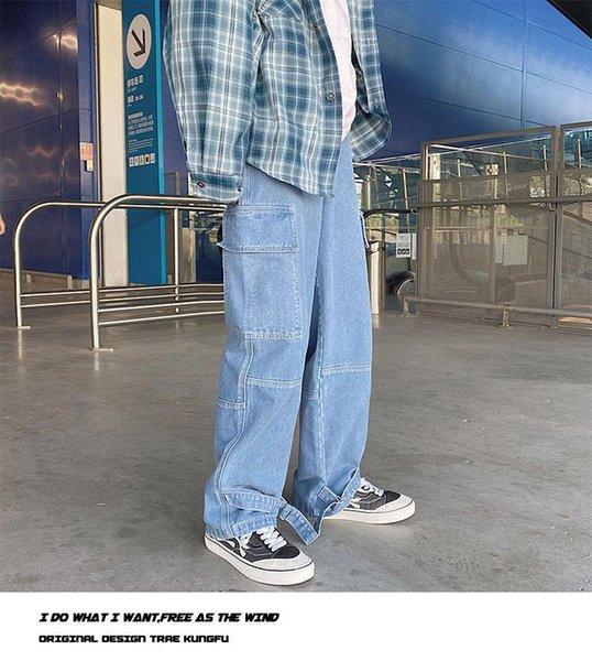 Светлые джинсы мужчины