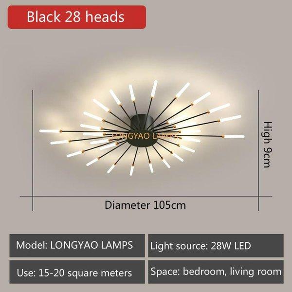 Black 28 Heads-Neutral Light