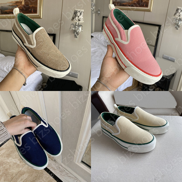 top popular Tennis 1977 Sneakers Slip-on Luxurys shoe White Pink Apple Classic Vintage Runner Trainers Skate ACE Designer Womens Casual Shoes 2021