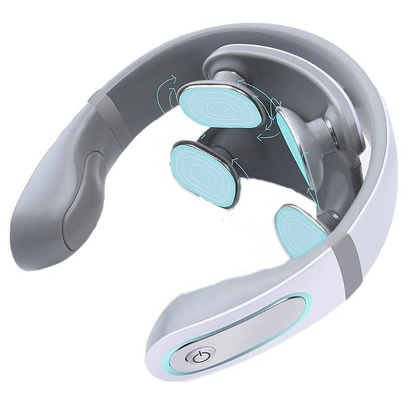 best selling Wireless Electronic Neck Massager 4D Shiatsu Cervical Massager Stiff Neck Massage Health Care Therapy Pulse Pain Relief 211012