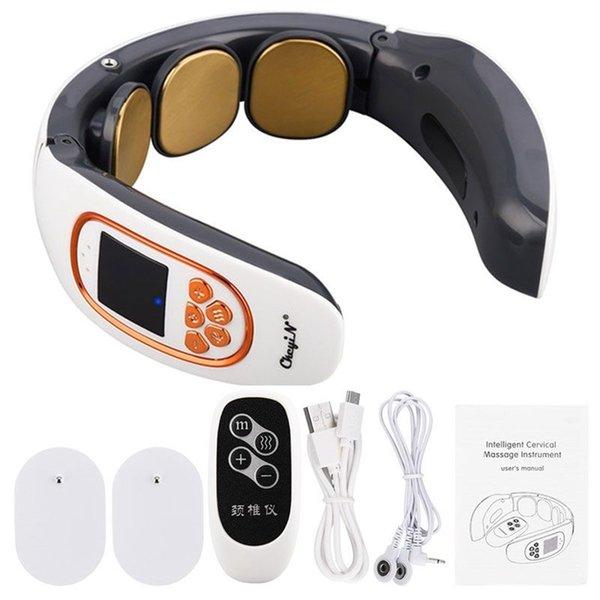 top popular 4D Smart Electric Neck and Back Pulse Massager TENS Wireless Heat Cervical Vertebra Relax Pain Relief Kneading Massage Machine 211012 2021