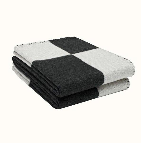 top popular Luxurys Letter Blanket Soft Wool Scarf Shawl Portable Warm Plaid Sofa Bed Fleece Spring Autumn Women Throw Blankets 2021