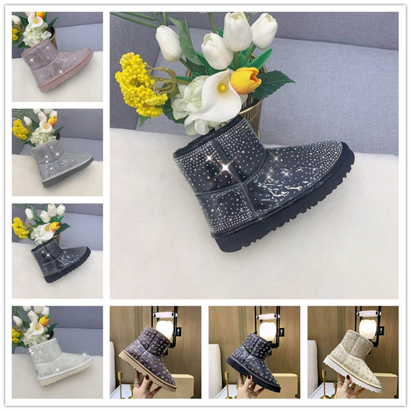 best selling women snow platform boots shoes fashion australia winter leather boot classic mini ankle short girls women's booties black chestnut