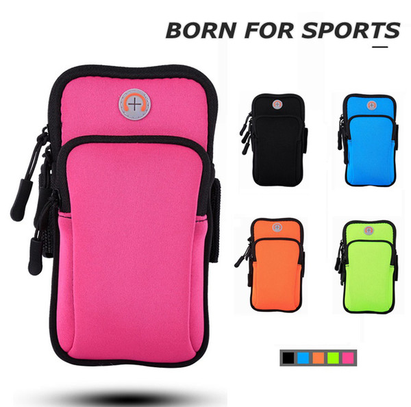 top popular Running Cellphone Bag Outdoors Arm Bag Women Men 's Sports Bag Night Running Bags for 6 inch Cellphone Factory Direct Free shipping 2021