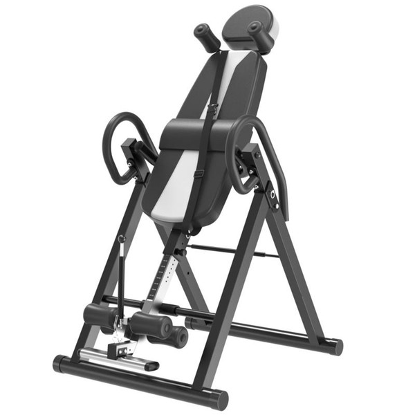 top popular High Quality Safer Integrated Fitness Equipment Inversion Table Back Stretcher Machine for Pain Relief Therapy Height Adjustable 2021