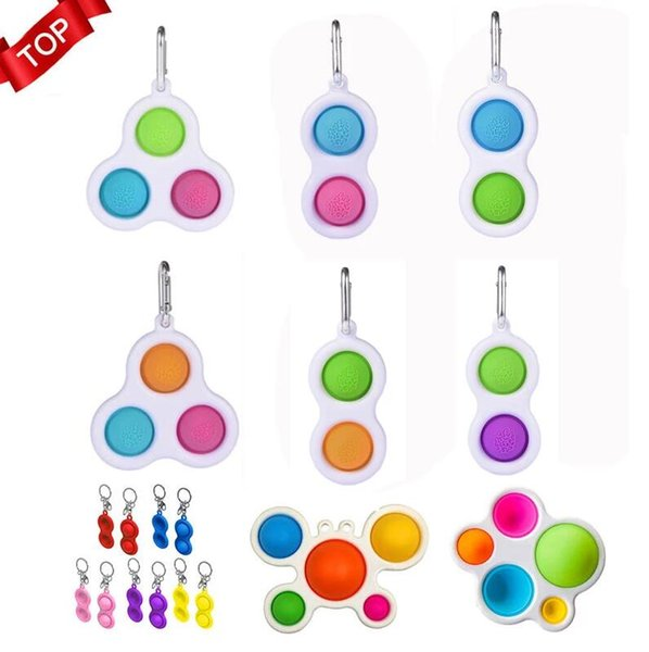 best selling Fidget Simple Dimple Toy Pendants Fat Brain Toys Stress Relief Hand For Kids Adults Early Educational Autism Special Need