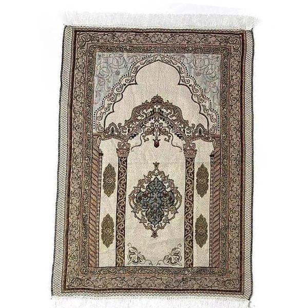 best selling wholesale 70*110cm thin Islamic Muslim Prayer Mat Salat Musallah Prayer Rug Tapis Carpet Tapete Banheiro Islamic Praying Mat