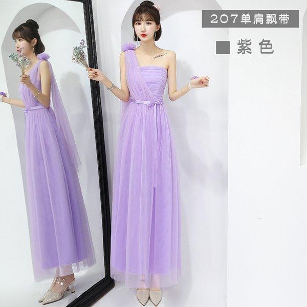 207 hombro púrpura largo