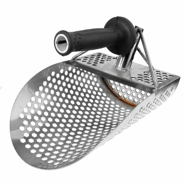 top popular Beach Sand Scoop Shovel Hunting Tool Stainless Steel Accessories for Metal Detector _WK 2021