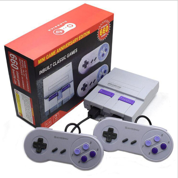 best selling TV Handheld Mini Game Consoles Can store 660 games Super Game Newest Entertainment System FOR SFC NES SNES Viedo Games Console Box