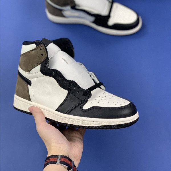 top popular Hot Sell Sail Black Dark Mocha 1 High OG Chaussures Fashion Women Mens Sports Shoes 1s Outdoor Athletic Sneakers Trainers 2021
