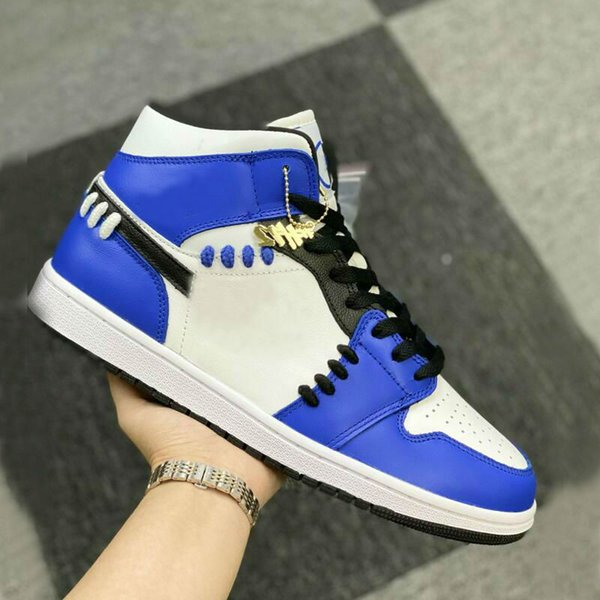 top popular 1 MID Sisterhood 1s women men basketball shoes Game Royal outdoor sports sneakers womens mens trainers 2021