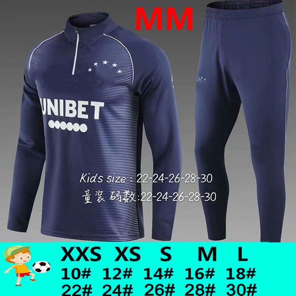 Mm blaue Trainingsanzug Kinder
