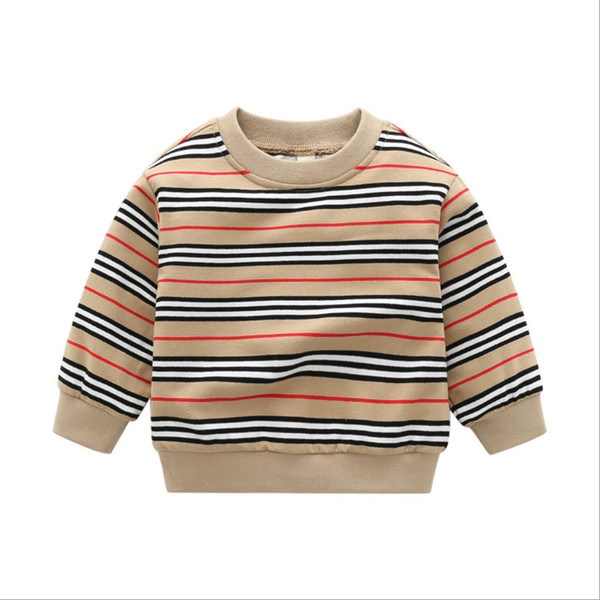 best selling 2021 Arrivals Baby Boy Striped Pullover Sweaters Spring Autumn Boys Knitted Pullovers Kids Cotton Sweatshirt Children Loose Casual Sweater
