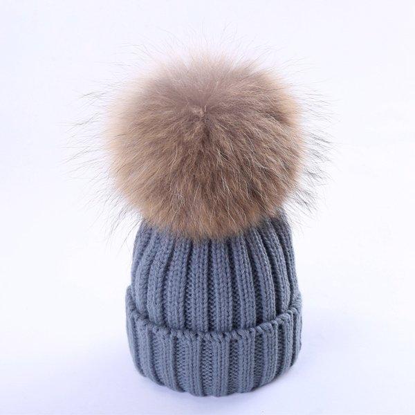 Gris (cheveux de chien de 15-18cm de raton laveur)