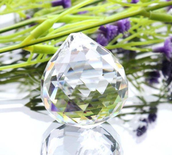top popular 5pcs 30mm Crystal Prism Suncatcher Tear Drop Chandelier Parts Hanging Pendant Beads Garland Home Wedding Decor Ornament 2 Holes H jllYzy 2021