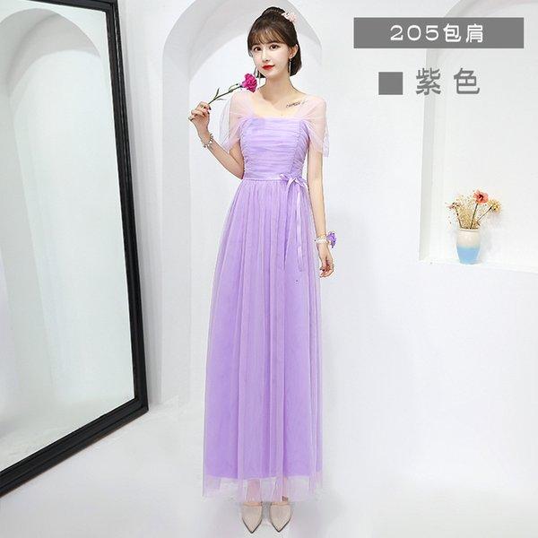205 hombro púrpura largo