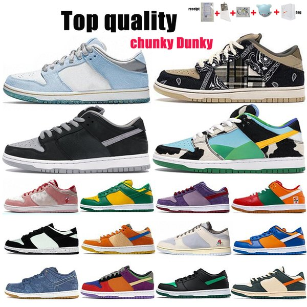 top popular Travis Scotts Sean Cliver Running Shoes Strange LOVE Red Green White Black Parachute Beige Men Women Skate Sports Shoes Size 36-46 With Half 2021